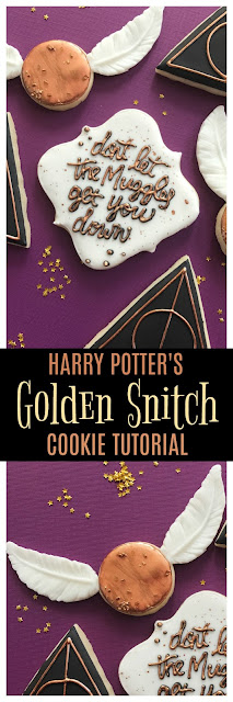 harry potter golden snitch cookie tutorial