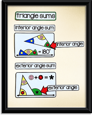 triangle sums - 8th grade math word wall