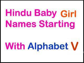 Modern Hindu Baby Girl Names Starting With V In Sanskrit