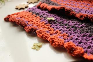 Уютный шарфик осенних тонов