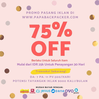Pasang Iklan Blog: Rate Card Papabackpacker.com (PROMO CUT OFF 75%)