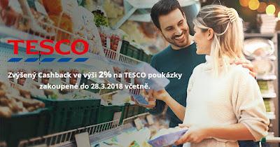 Cashback World Tesco - nyní 2% cashback