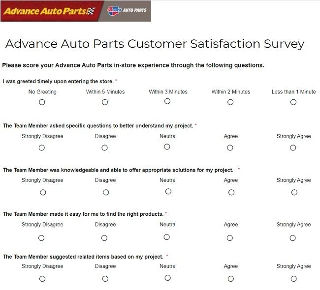advanceautoparts.com/survey 2020