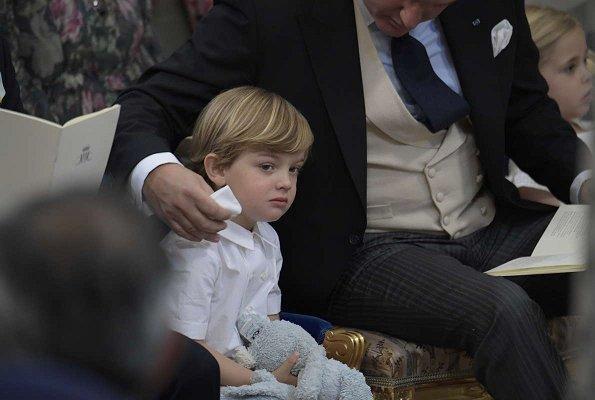 Queen Silvia, Crown Princess Victoria, Princess Estelle Princess Sofia, Princess Madeleine and Princess Leonore attended the baptism