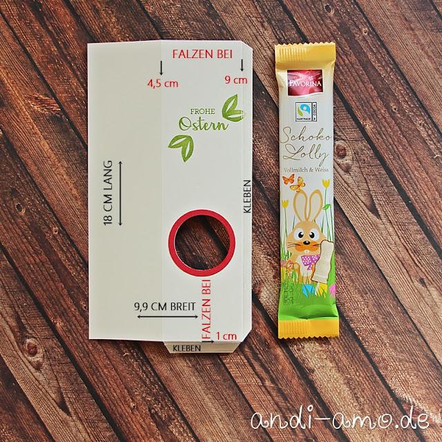 Anleitung Schoko-Lolli Verpackung Stampin Up