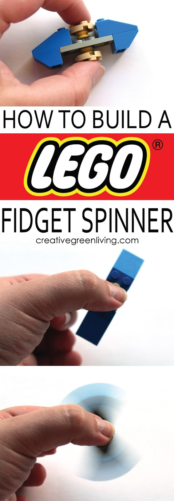 How to make a Lego fidget spinner - learn how to make a fidget spinner with legos