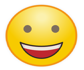 Emoticon WhatsApp Gambar Happy