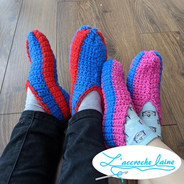 L'accroche laine - Pantoufles