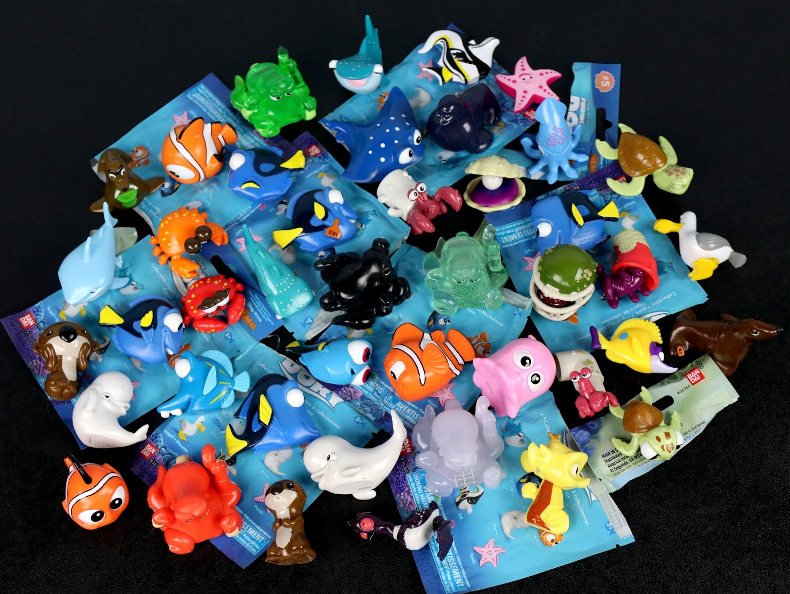 finding dory blind bag figures complete set