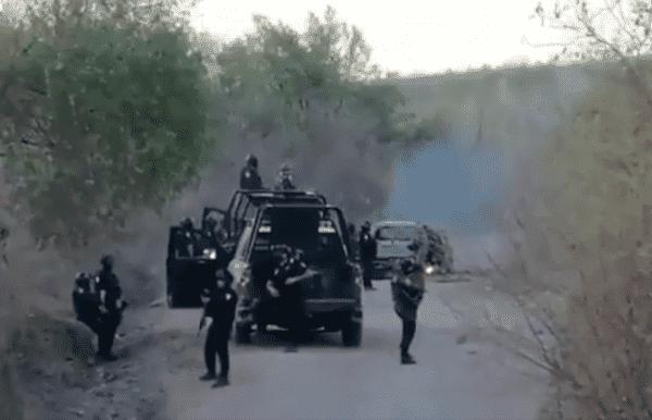 VIDEO.- Así era la brecha donde El Cártel de Sinaloa se enfrento a Marina quienes contraatacaron y los hicieron huir