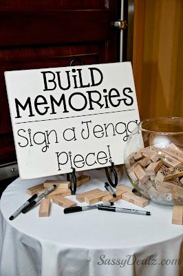 Diy Wedding Jenga Guestbook Idea Reception Decor Crafty