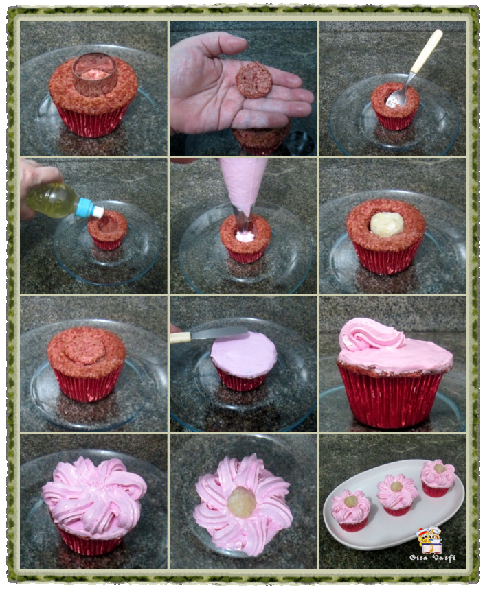 Bolo e cupcake de groselha com beijinho de coco 14