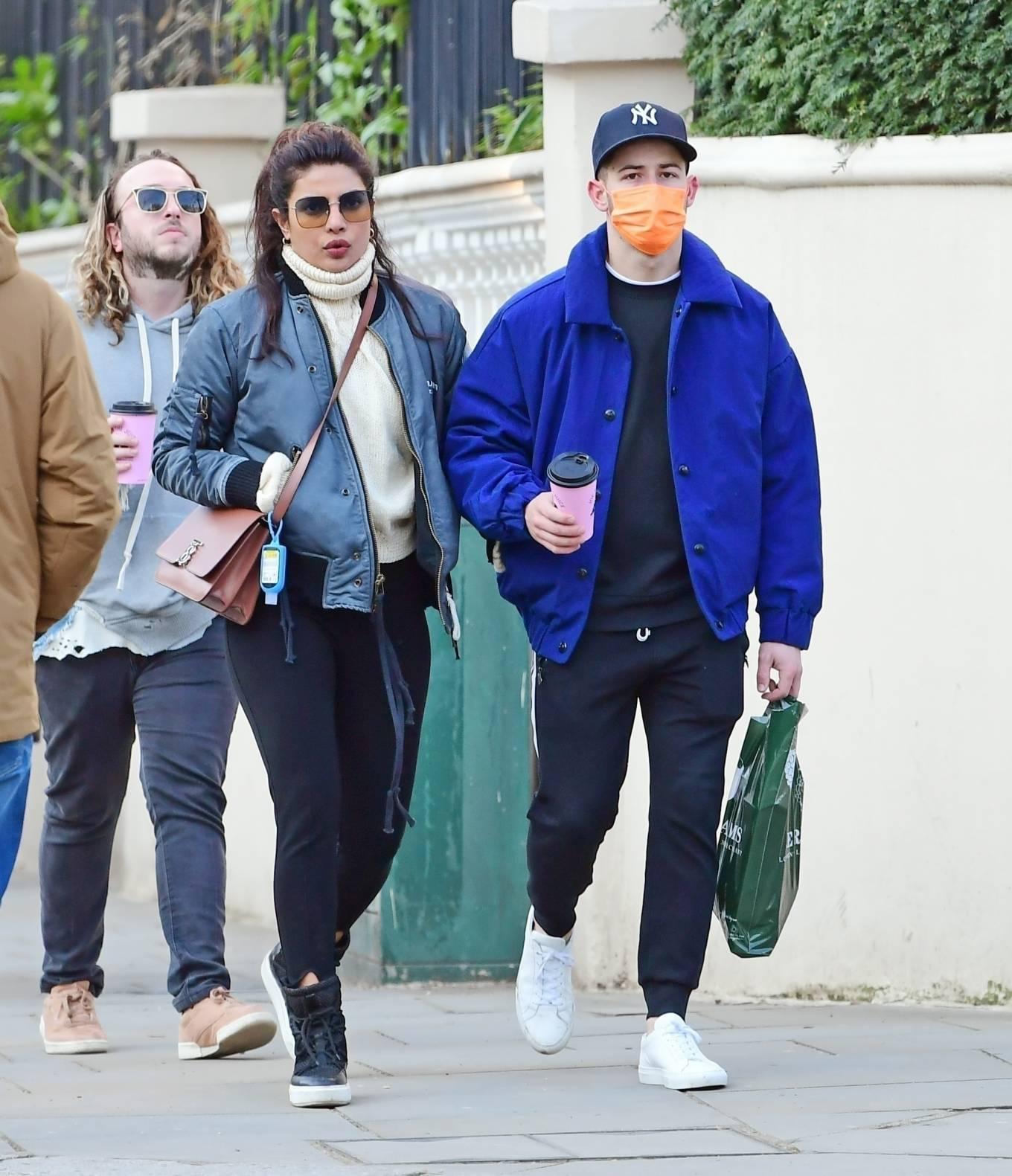 Priyanka Chopra – Seen out with family members in London
