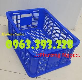 Sọt nhựa HS018, sọt đựng trái cây, sóng nhựa rỗng chứa đồ 6c7d5f410e31f66faf20