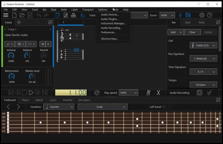 Gadwin Rockmer : Δημιουργήστε, εκτυπώστε και ακούστε ταμπλατούρες από κιθάρα ή άλλα  μουσικά όργανα