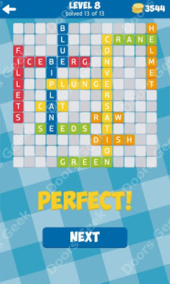 Cheats, Solutions for Level 8 in 13 Word Connect by Second Gear Games