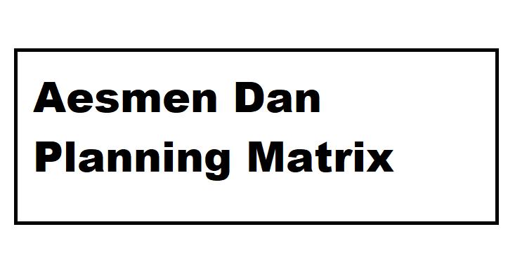 asesmen dan planing matrix