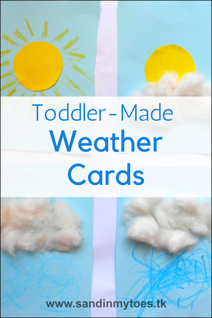 Simple weather cards that toddlers and prechoolers can make themselves.