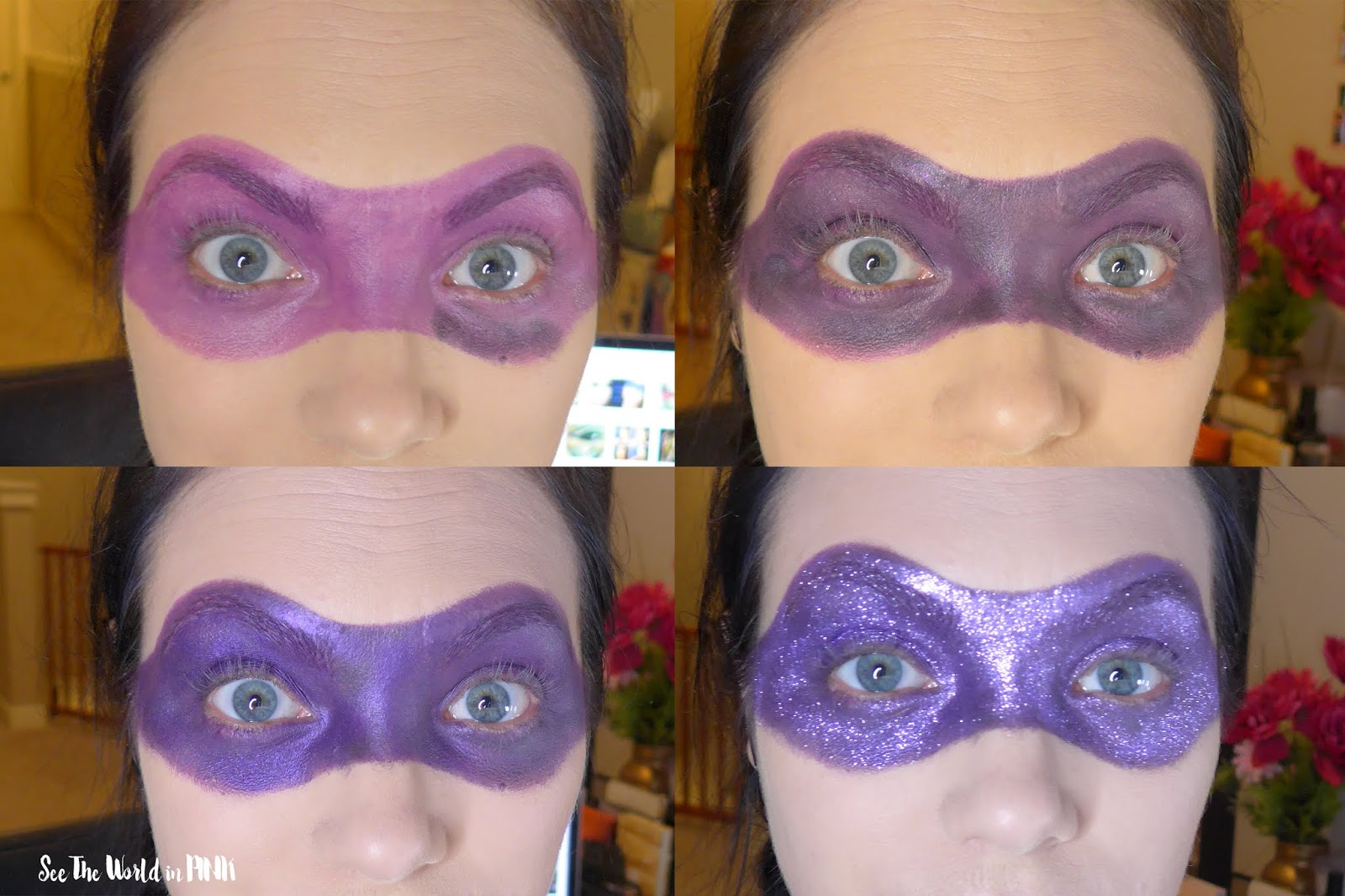 Halloween Makeup - TNMT Ninja Turtle Donatello Makeup!