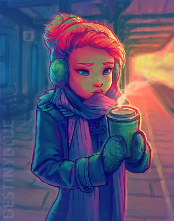Adorable Digital Art By Destiny Blue