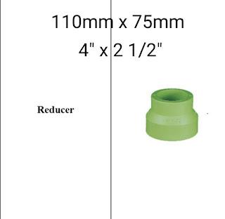 Jual reducer 110mm × 75mm