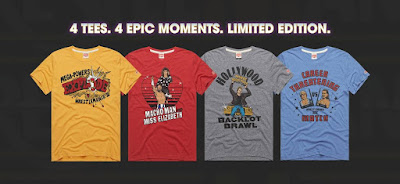 "WWE ""Memorable WrestleMania Moments"" T-Shirt Collection by HOMAGE"