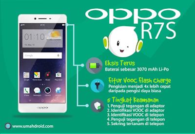 OPPO R7S smartphone dengan batterai besar dan awet