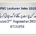 PPSC Lecturers Total Applications Submitted Status  September 02, 2020 07:30PM