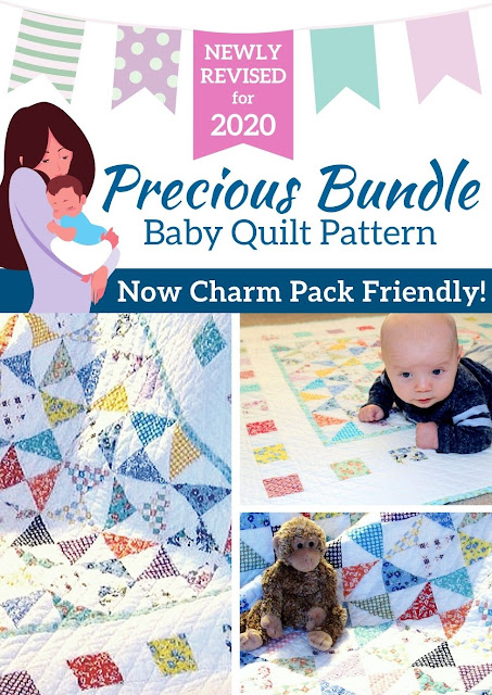 Charm Pack Friendly Baby Quilt | Precious Bundle by Monica Curry
