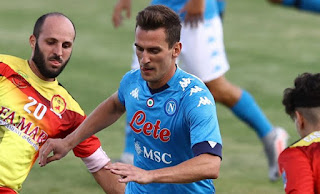 Marseille coach Andre Villas-Boas has confirmed interest in Napoli striker Arek Milik.