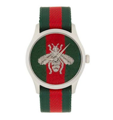 Novos relógios Gucci G-Timeless Web Bee Watch