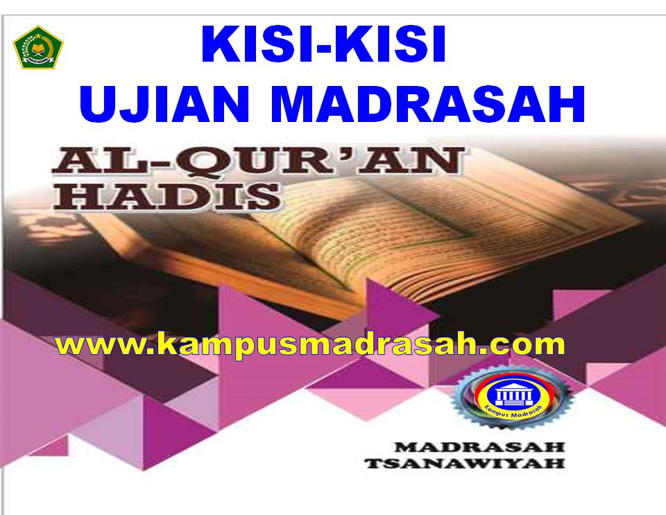 Kisi-kisi UM Al-Qur'an Hadis Tingkat MTs