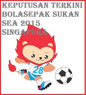 result Bolasepak Sukan SEA 2015 Singapura