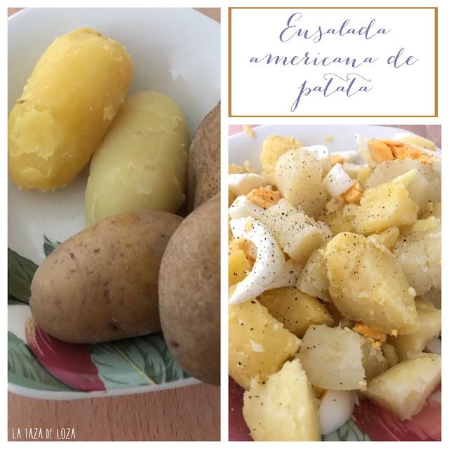 Patatas para ensalada americana
