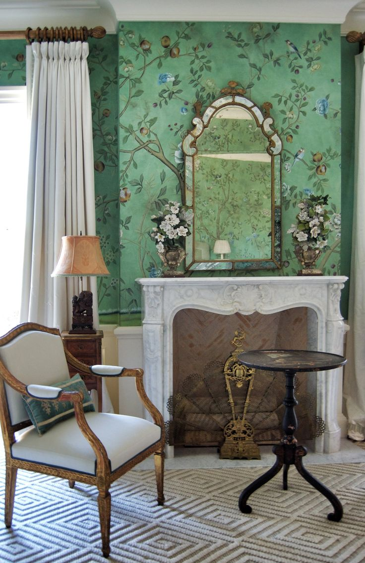 Chinoiserie wallpaper for less petite haus for Wallpaper for less