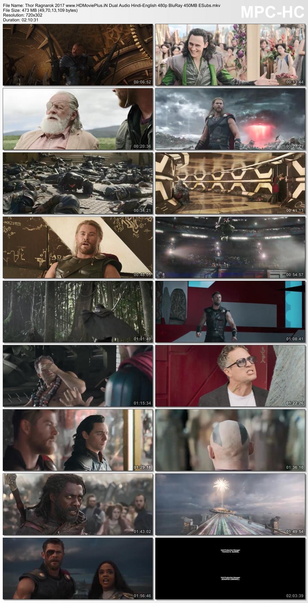 Thor: Ragnarok 2017 Dual Audio