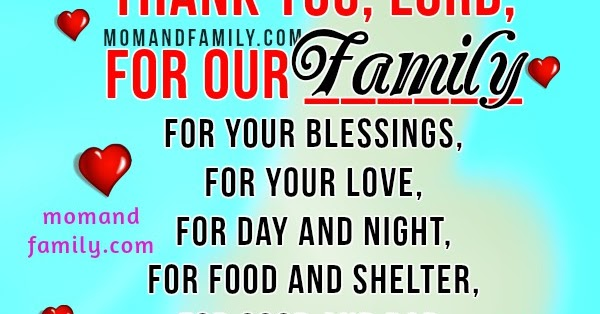 Mom and Family Love Quotes: Short Family Prayer. Christian ...