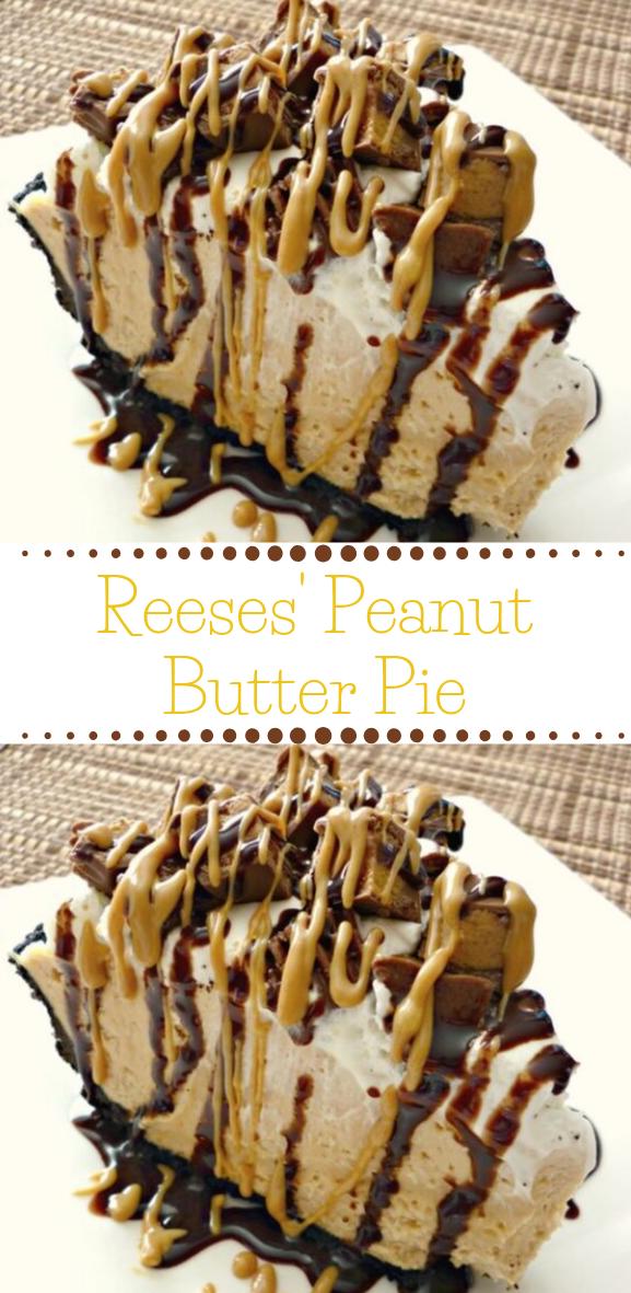 Reese's Peanut Butter Pie  #pie #dessert #cake #peanut #chocolate