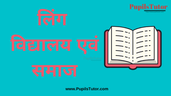 (लिंग विद्यालय एवं समाज) Gender School and Society Book, Notes and Study Material in Hindi Medium Free Download PDF for B.Ed 1st and 2nd Year and All | Gender School and Society PDF Book in Hindi | Gender School and Society PDF Notes in Hindi | Gender School Society PDF Study Material in Hindi for B.Ed