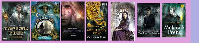 portadas de la novela de fantasía juvenil Príncipe Mecánico, de Cassandra Clare