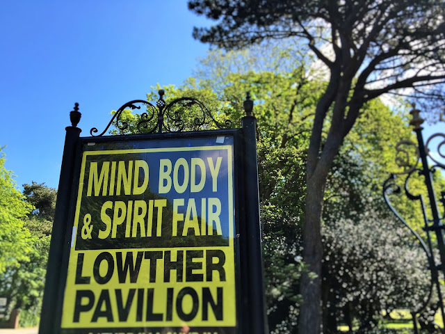 Sign leading to Mind Body & Spirit Fair