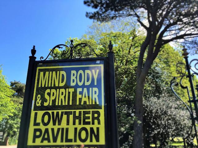 Sign leading to Mind Body & Spirit Fair