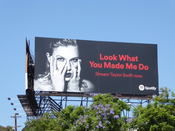 Taylor Swift Look What You Made Me Do Spotify billboard