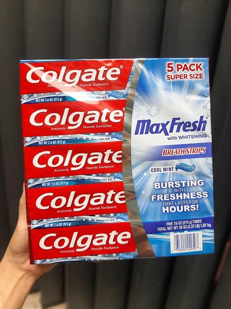 Kem đánh răng Colgate Max Fresh With Whitening Mỹ 215g ( 5 cây)