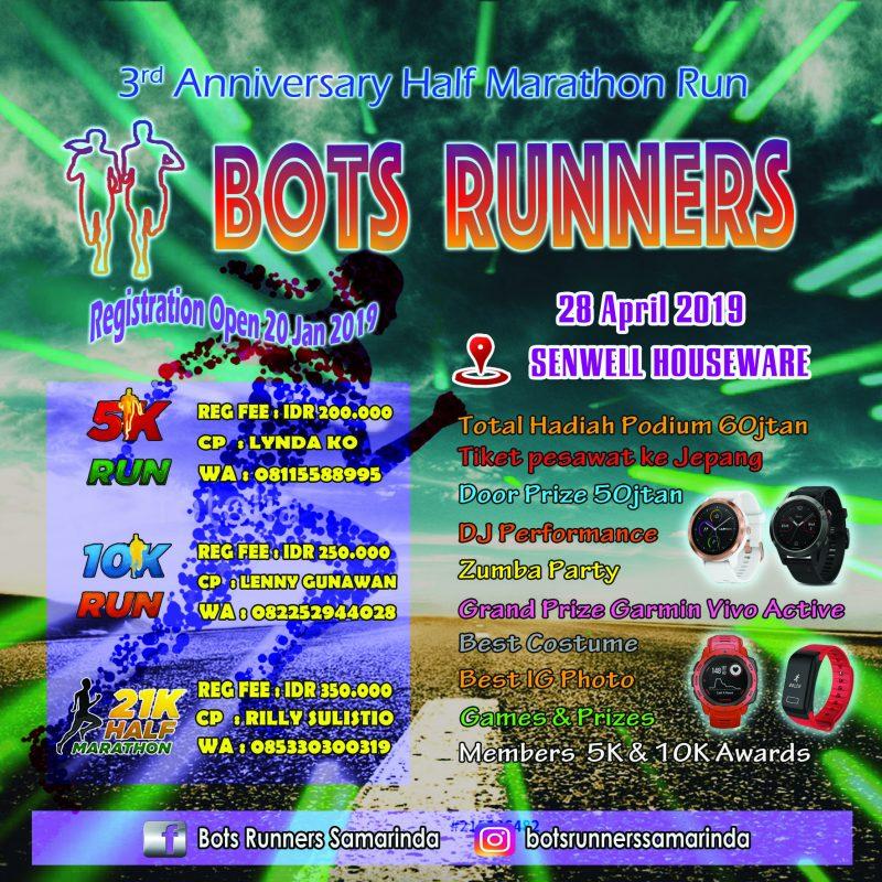 3rd Anniversary Half Marathon BOTS Runners • 2019