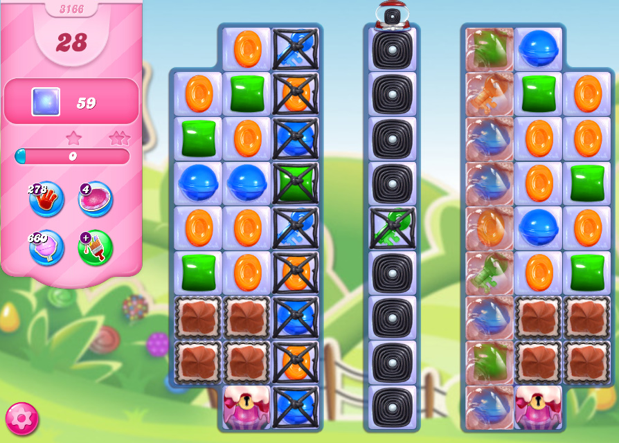 Candy Crush Saga level 3166