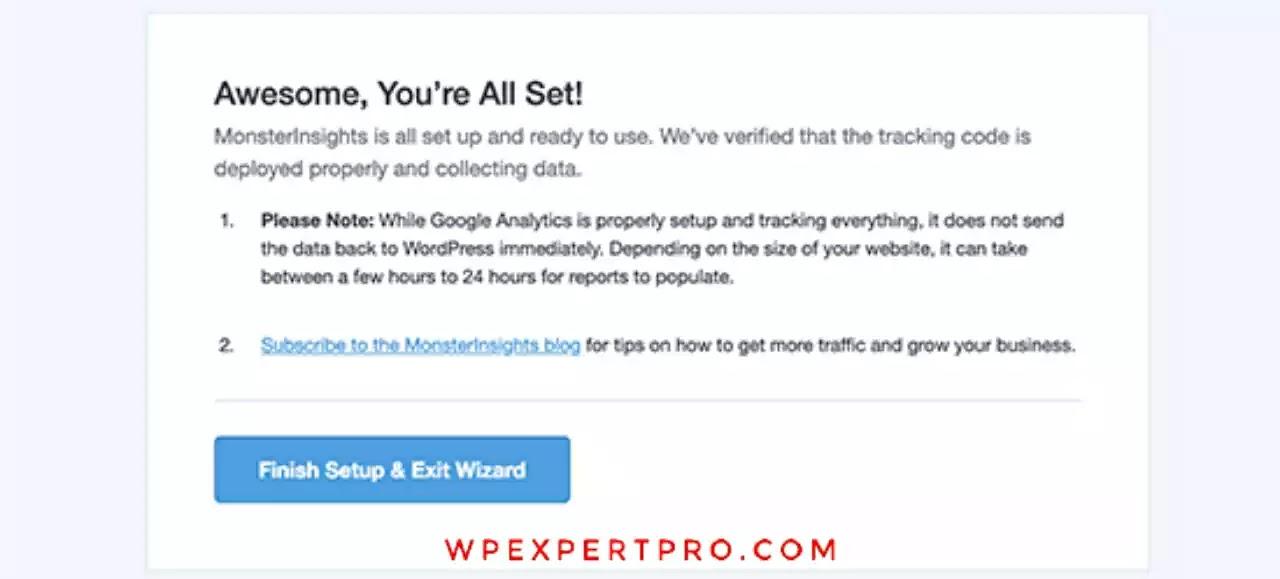 Successfully google analytics installed
