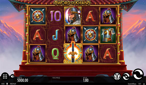 Main Gratis Slot Indonesia - Sword of Khans (Thunderkick)