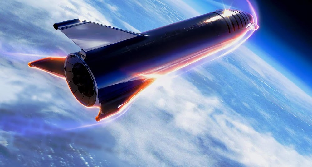 Official HQ render of SpaceX stainless steel Starship