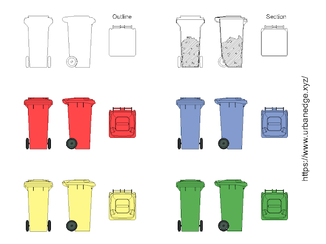 Garbage bin free cad blocks download - 15+ Garbage bin cad blocks